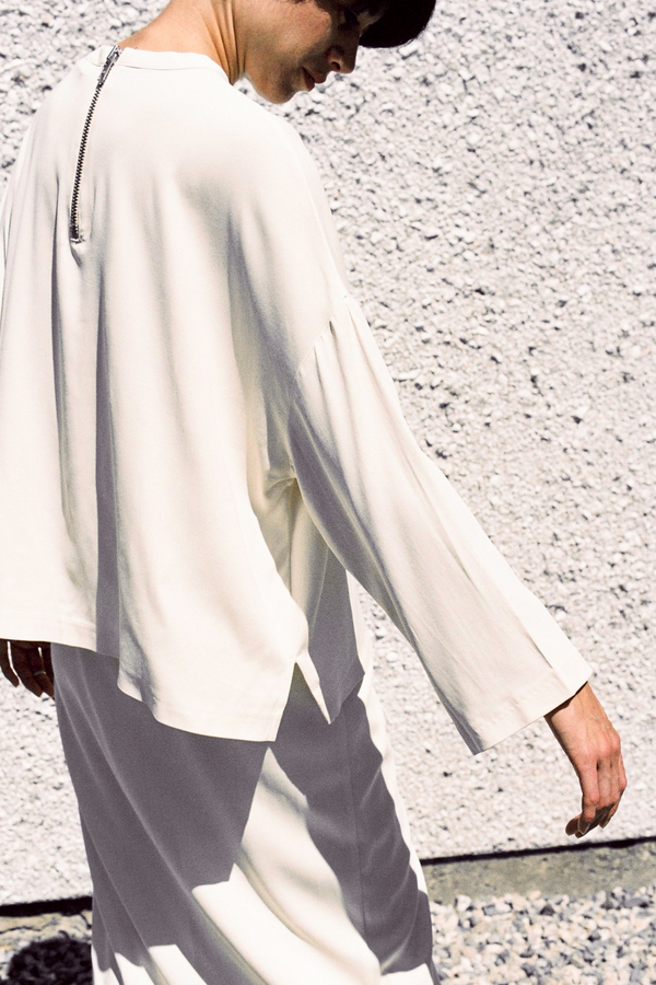 Ganni White Tailor Blouse - vanilla ice