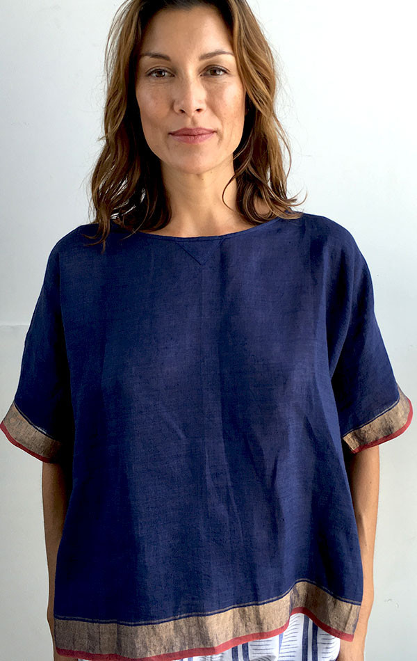 Two New York Boxy sari top