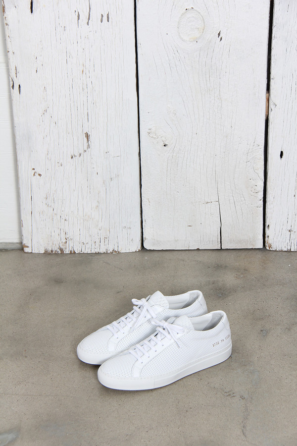 Common Projects Original Achilles in Perforated Leather