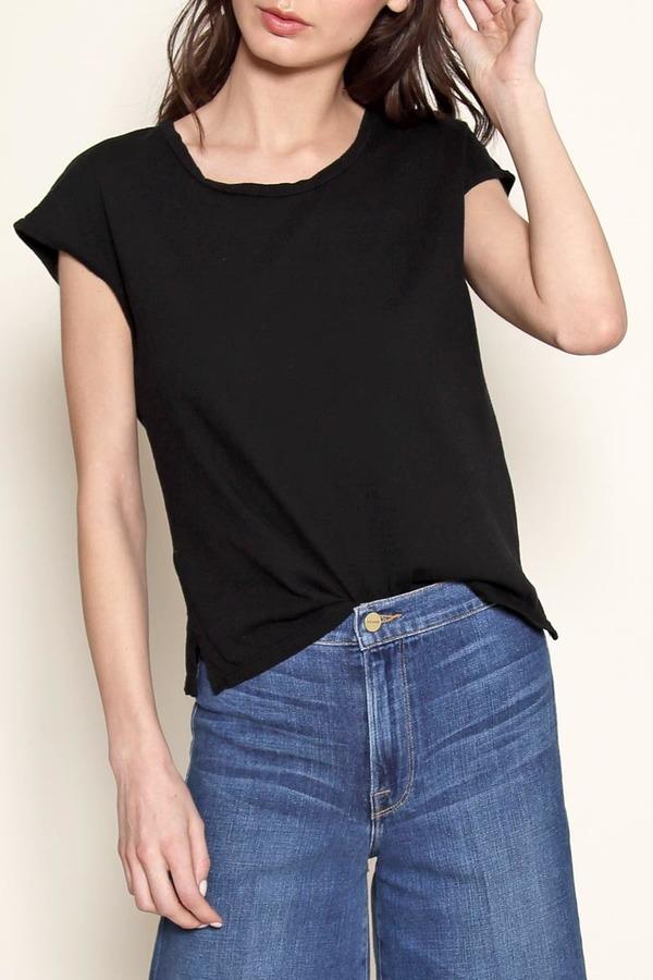 Atelier Delphine Black cap-sleeve tee