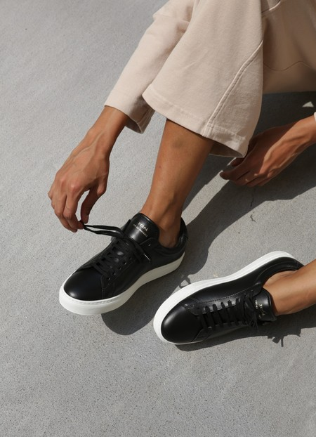 ZESPA HIGH NAPPA sneaker - BLACK