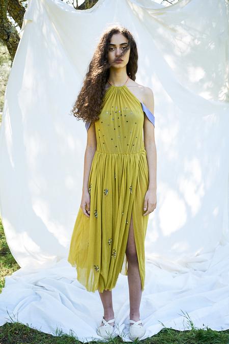 SIZ ELONGATE DRESS - Yellow