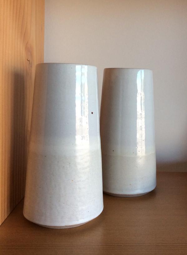 Victoria Morris Angle White on White Vase