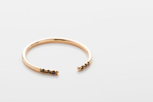 Jennie Kwon Designs Black Equilibrium Cuff Ring