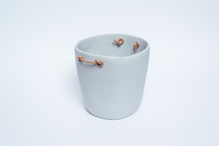 Tina Frey Designs Champagne Bucket with Leather Handles