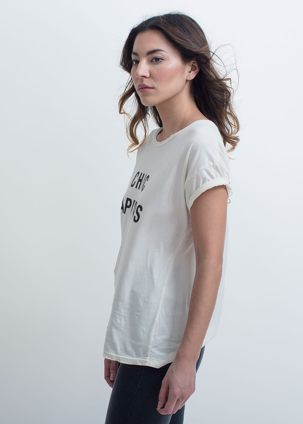 Style Stalker Chic Happens Distressed Tee