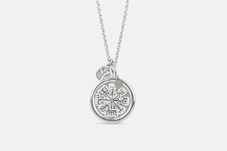 Andrea Shelley Vegvísir Necklace - Silver