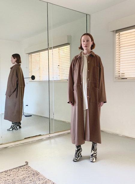DÉSIRÉEKLEIN Doran wooly Rayon mix Coat - brown