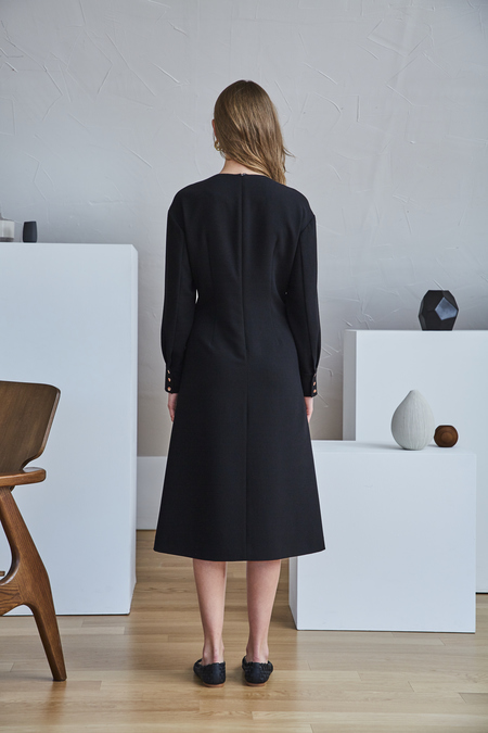 Maison De Ines CORSET WAIST DRESS - Black