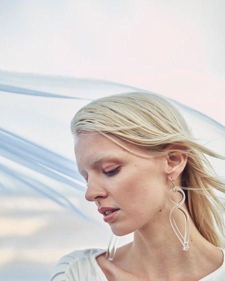 Corey Moranis Twist Earring - Clear