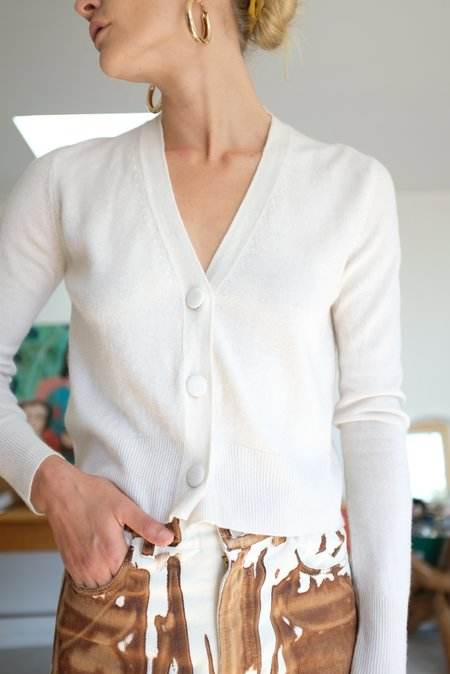 Beklina Knit Cardigan - Ivory Cashmere