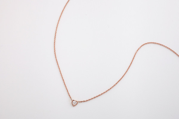 Hortense Je t'aime Necklace - Heart Shape Diamond