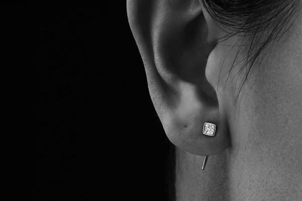 Gabriela Artigas Pave Square Infinite Tusk Earring