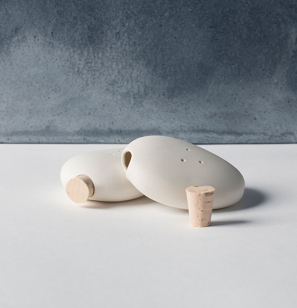 Pigeon Toe Ceramics Pebble Salt and Pepper Shakers