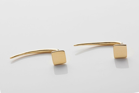 Gabriela Artigas Square Infinite Tusk Earrings