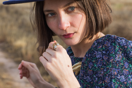 Saint Claude x Freda Double Primrose Ring - Brass