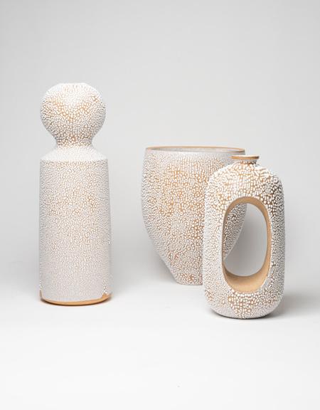 Natan Moss ceramics Round Top Ceramic Vase