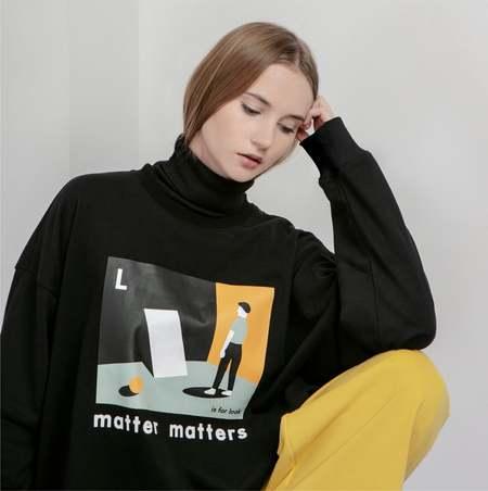 MATTER MATTERS The L is for Look sweatshirt - Black