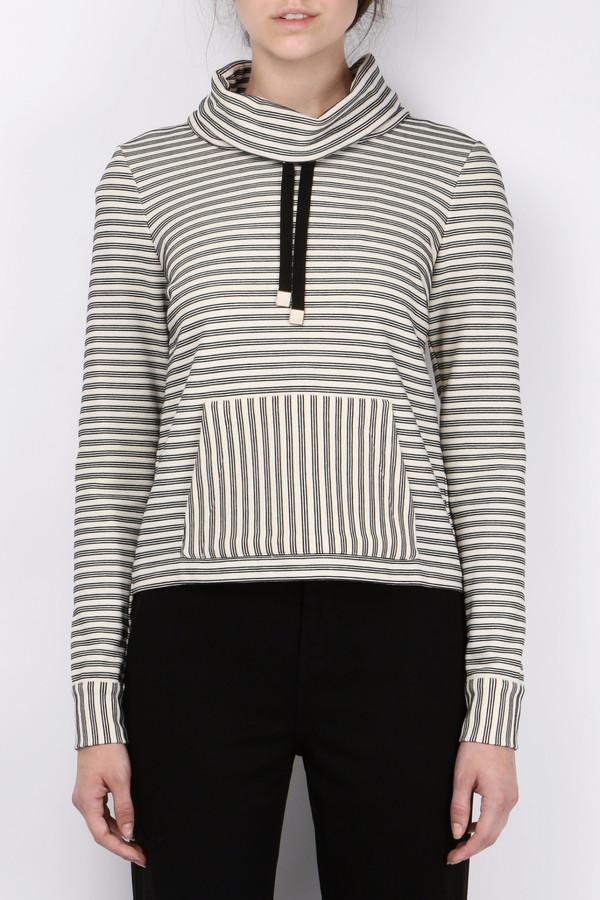 Veronica Beard La Brea Funnel Neck Sweatshirt