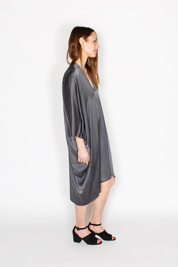 Miranda Bennett Muse Dress, Silk Charmeuse in Slate
