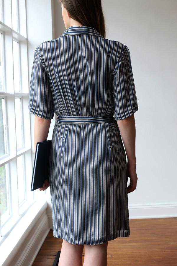 Ganni Allen Georgette Shirt Dress