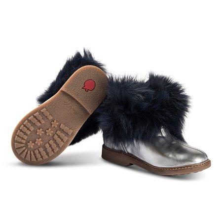 kids pom d'api retro chabraque boots - grey/navy