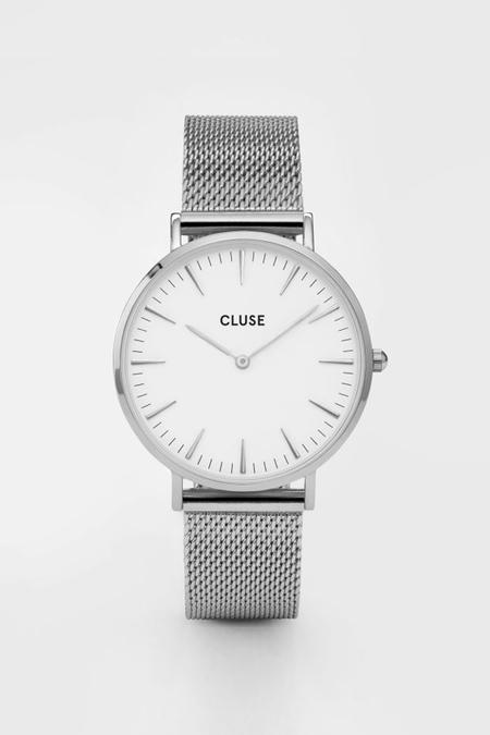CLUSE WATCH La Boheme Mesh Silver/White