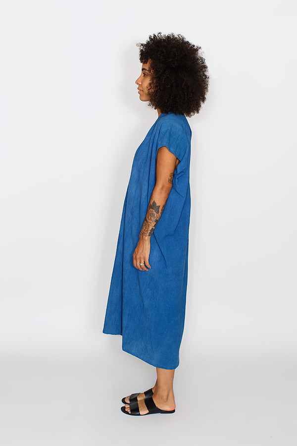 Miranda Bennett Indigo Everyday Dress | Oversized Cotton