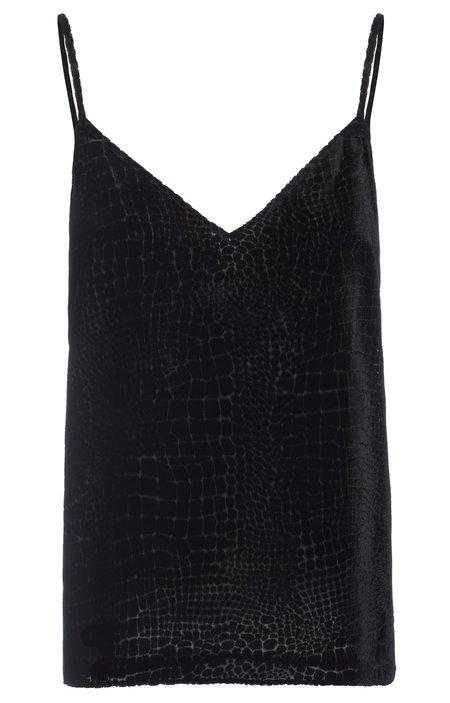 Frame Croc  Cami Top - Black
