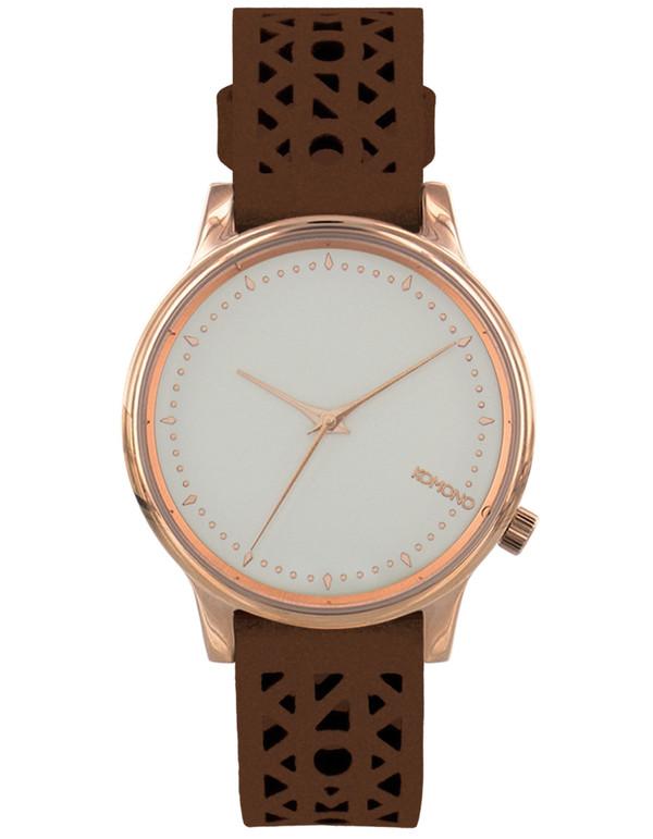 Komono Estelle Cutout Watch Cognac