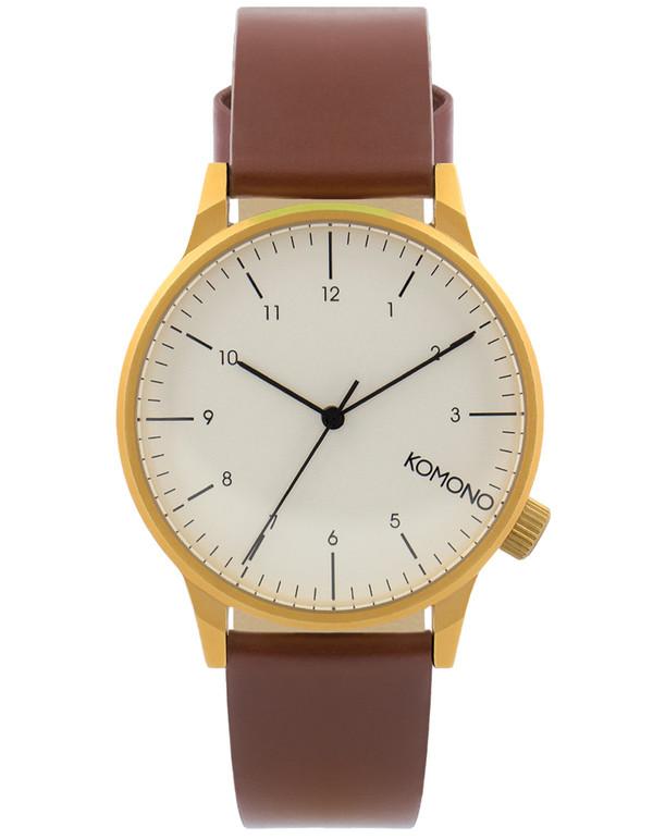 Komono Winston Regal Watch Chestnut