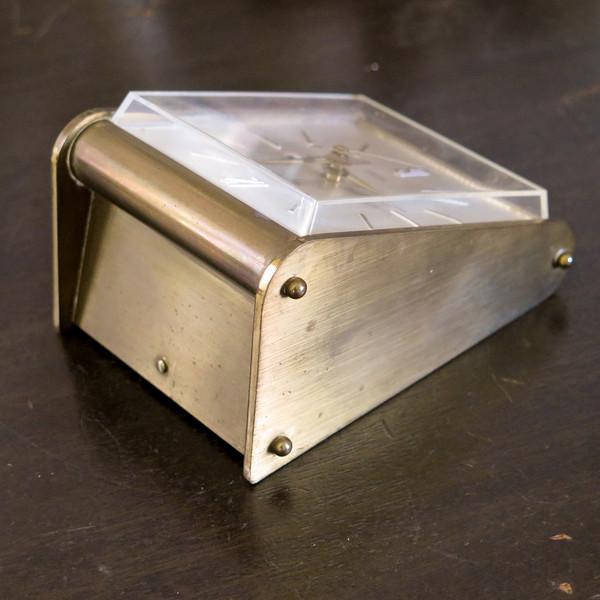 brass desk clock