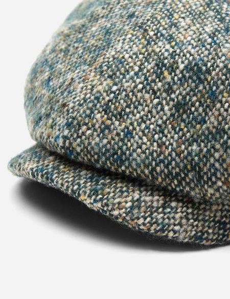 Stetson Hatteras Donegal Newsboy Cap (Wool) - Green Mix