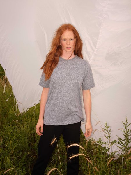 Odeyalo ALMA heather basic tee - Heather Grey