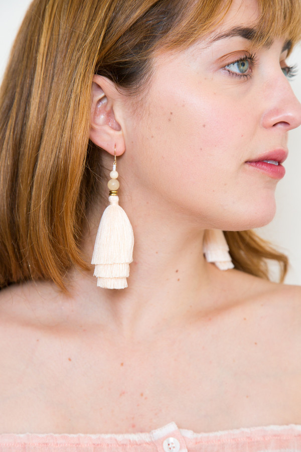 Ora-C Nina Earring in Peach