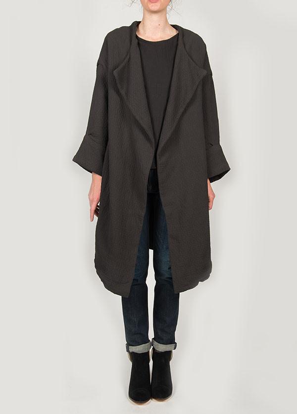 Black Crane - Quilt Coat in Ebony
