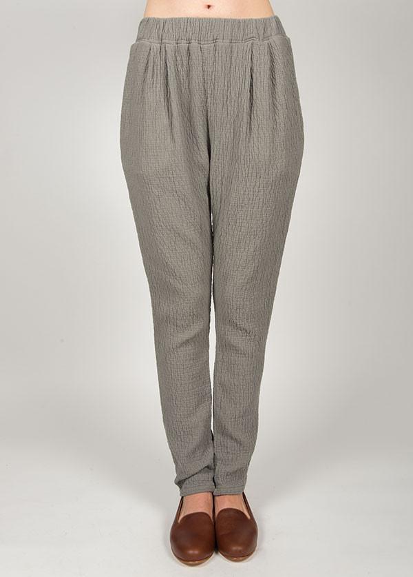 Black Crane - Quilt Pants in Grey