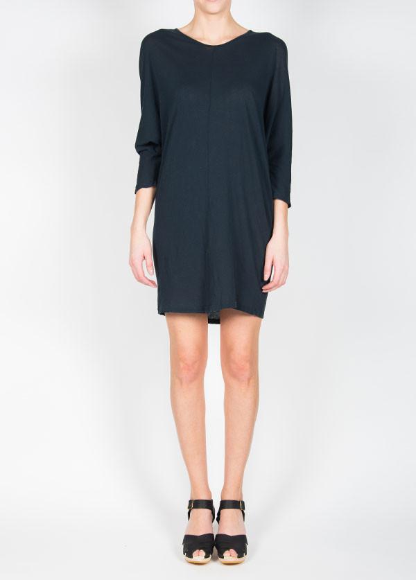 Black Crane Wide Dress in Grey Black