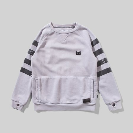 Kids Munster Kids Banded Sweatshirt - Pigment Grey