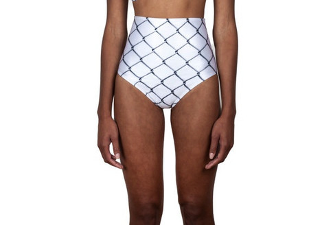 Minnow Bathers Burney High-Waisted Bottoms (Chain Link)