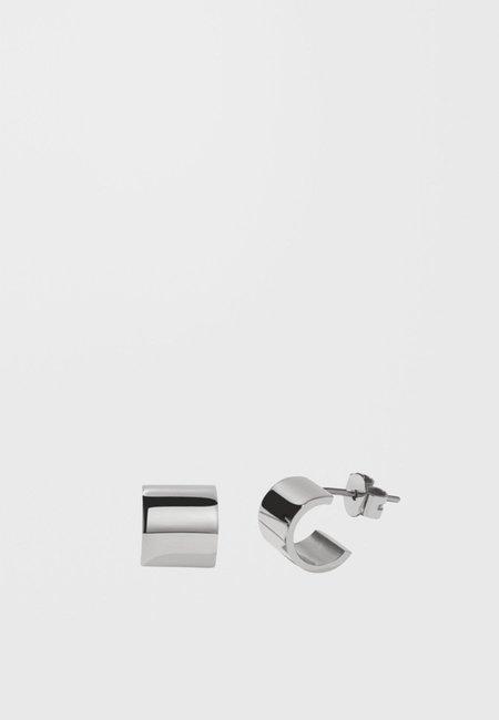 Meadowlark Cuff Stud Earrings - silver