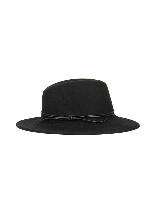 Men's Brookes Boswell Millinery - Jackson in Black Wool Felt