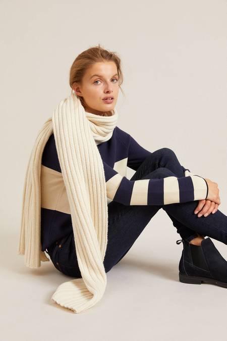 Lanius Virgin Wool Organic Cotton Scarf - Off White