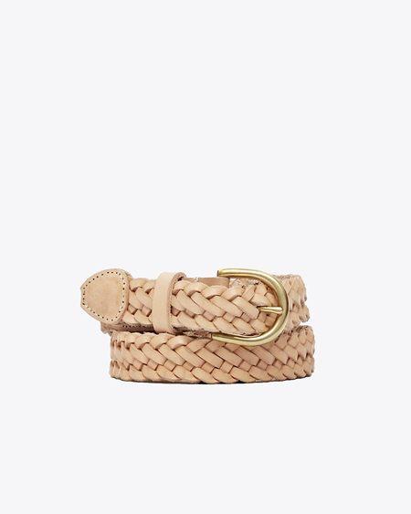Nisolo Talia Braided Belt - Natural