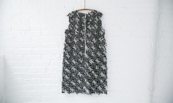 Odeeh Frayed Shift Dress