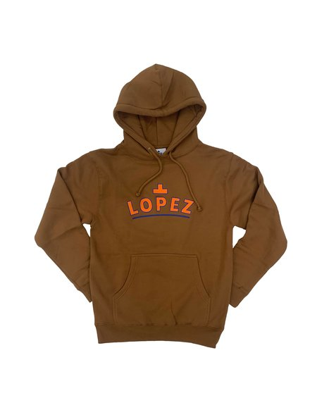 Lopez Logo Pullover - Orange/Blue/Brown