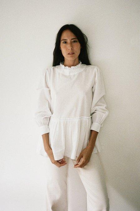 Karu Poet Blouse - White