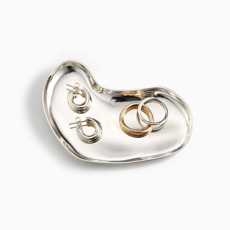 AGMES Sculpted Heart Dish - Sterling Silver