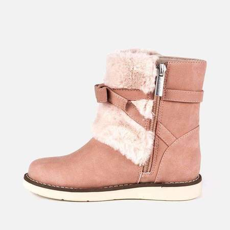 Kids Mayoral Faux Fur Boot - Pink