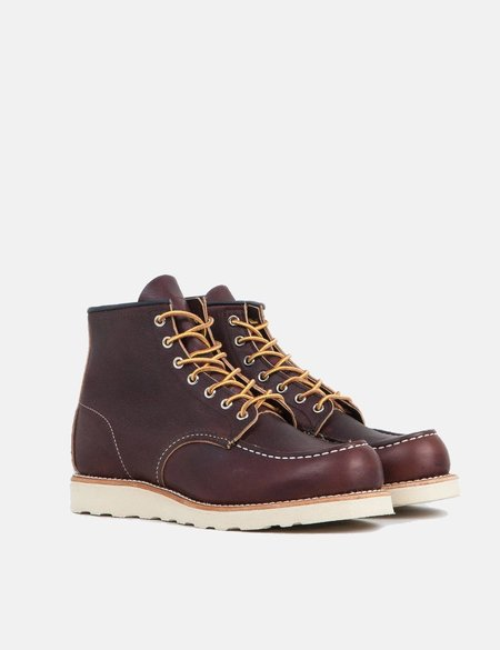 Red Wing Moc Toe Work Boots - Brown
